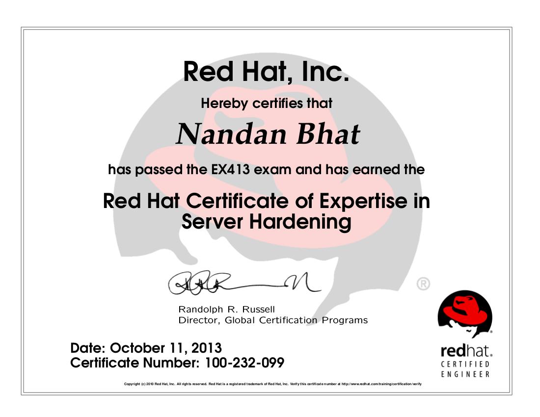 Certification linux training certification nandanbhatrhcsa nandanbhatrhce v7 nandanbhatex413 nandanbhatex318 nandanbhatex210 nandanbhatnclpecr nandanbhatnclaecr nandanbhatcniecr xflitez Images